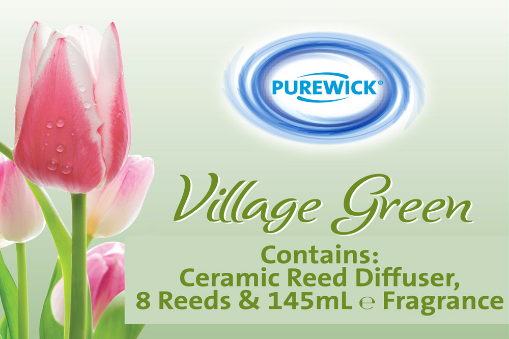 ALDI Village Green Reed Diffusers Packages Design - detail