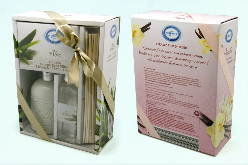 ALDI Reed Diffusers Packages Design - front and back