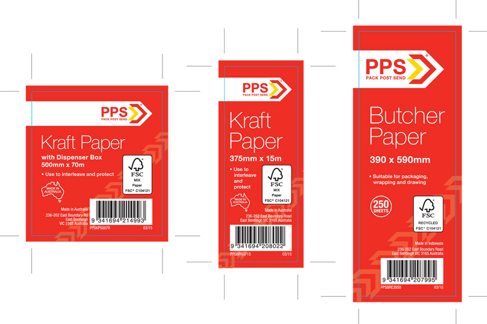 PPS Packaging Finished Art - Paper Package Labels