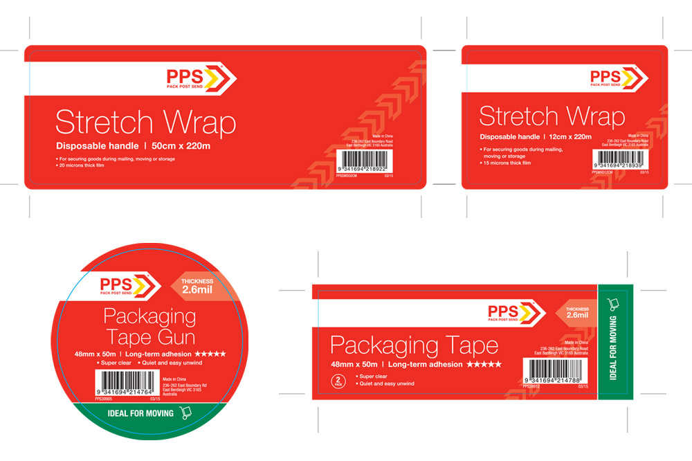PPS Packaging Finished Art - Stretch Wrap and Packaging Tape