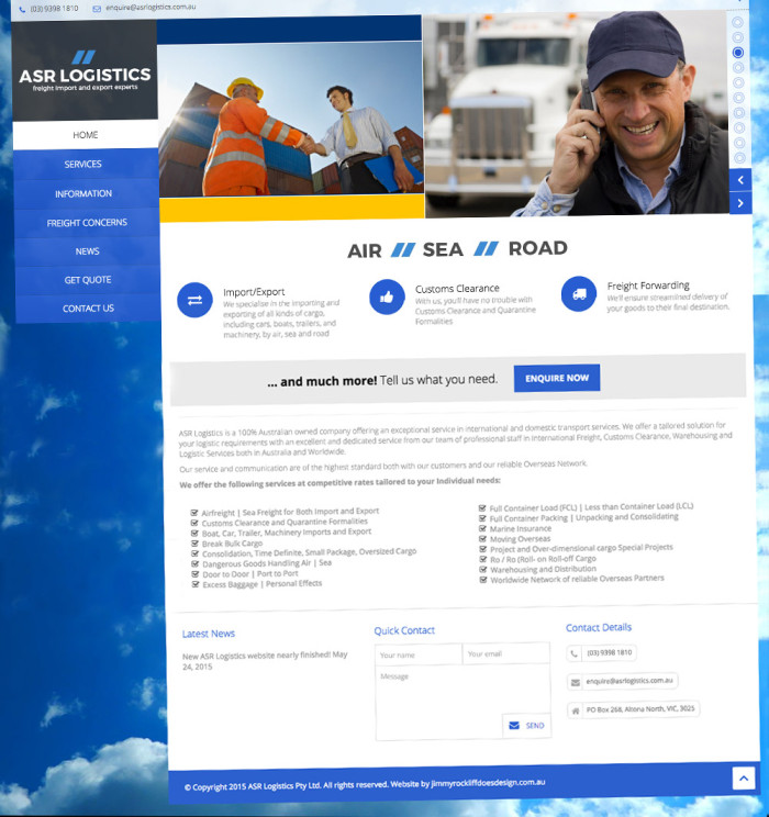ASR Logistics Website Featured