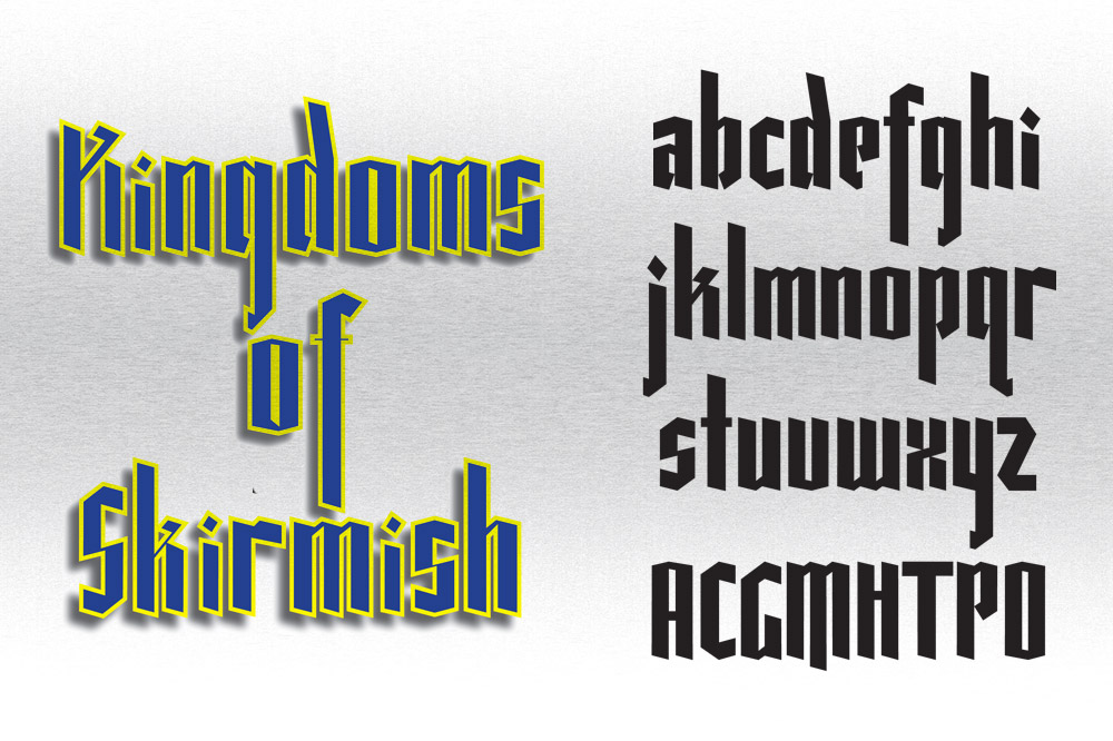 Fun Medieval Board Game Typeface Design