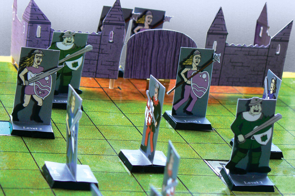 Tactful arrange outside of the princess girls fortress - Scene from board game
