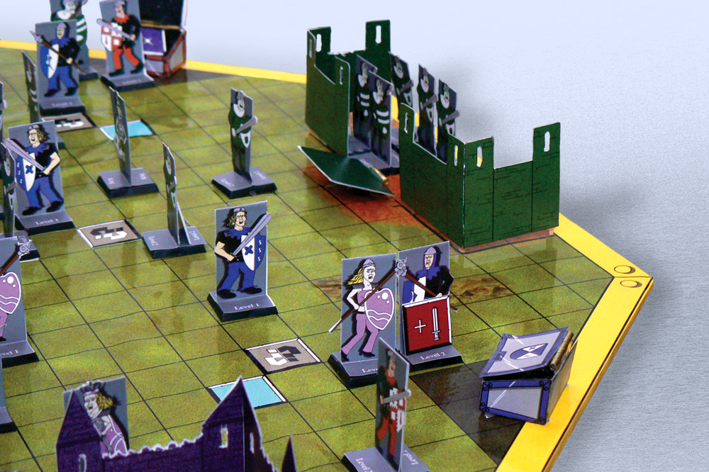 Racing to the treasure chest - Scene from board game