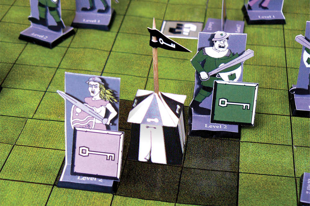 The keymasters tent - Scene from Board Game