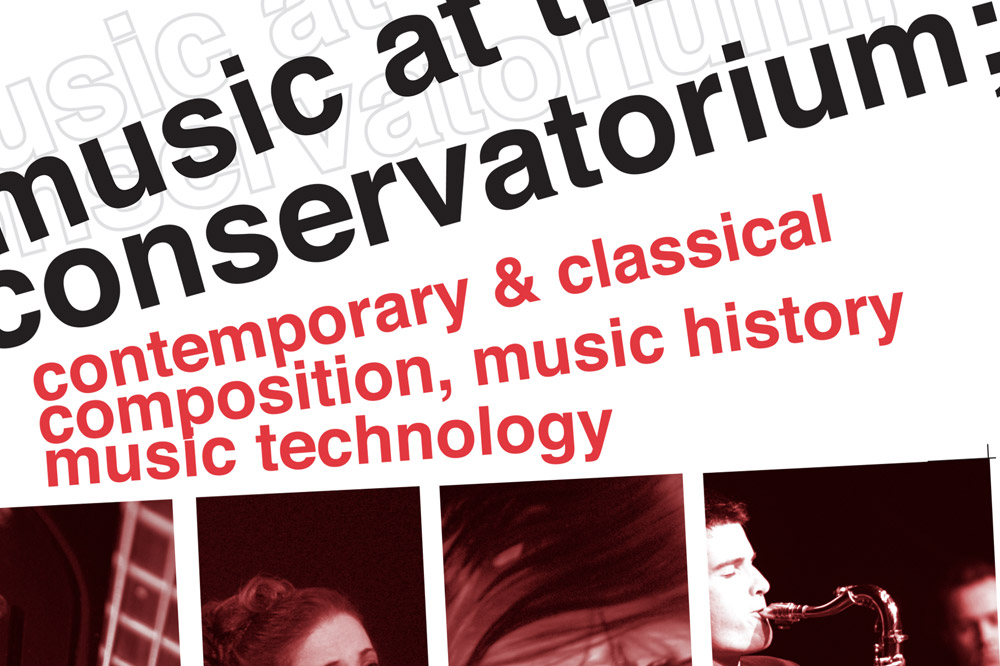 Conservatorium of Music poster design detail