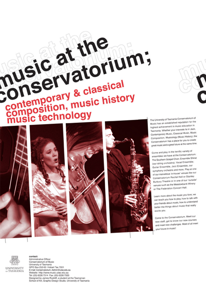 Conservatorium of Music poster design