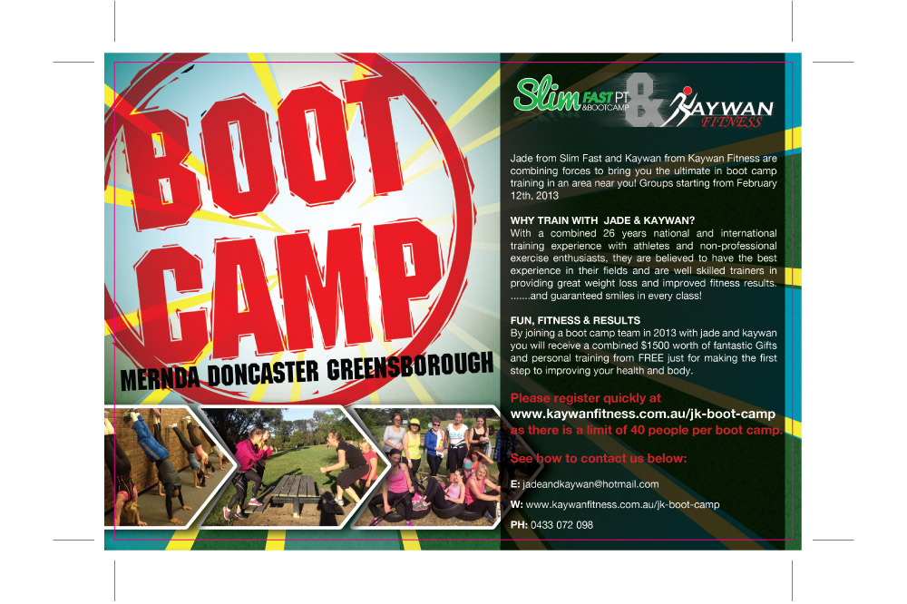 Boot Camp Flyer Print Ready