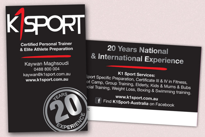 K1Sport Business Card