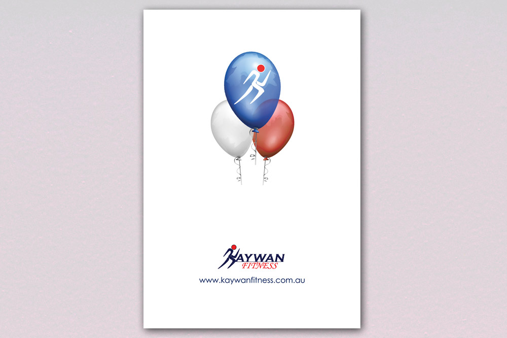 Kaywan Fitness Birthday Card - Back