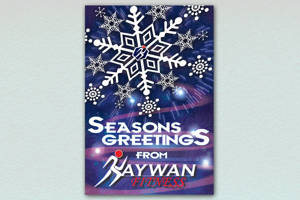 Kaywan Fitness Christmas Card - Front