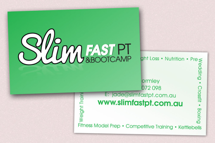 SlimFast PT Business Card