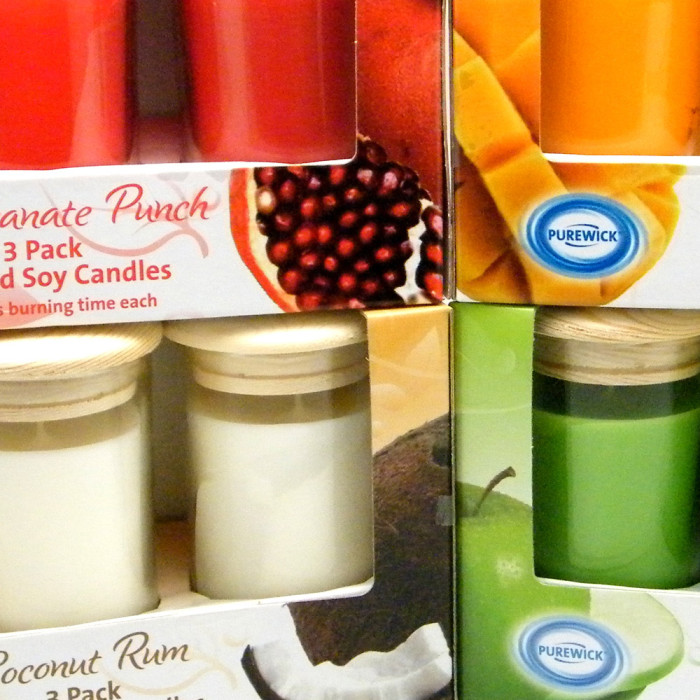 ALDI Candle Set Package Design Feature