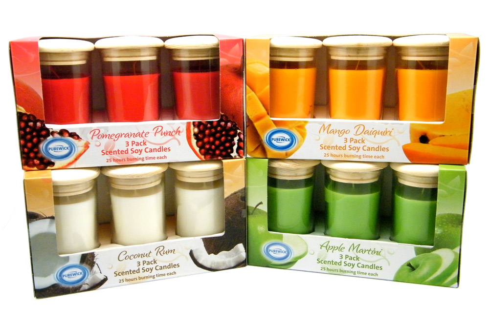 ALDI Candle Set Package Designs