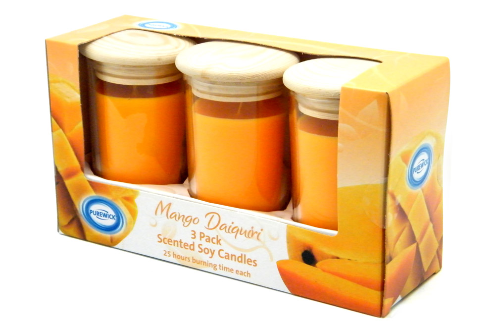 ALDI Candle Set Package Design - Mango Daiquiri