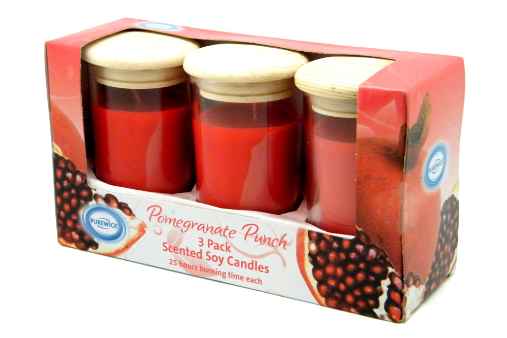 ALDI Candle Set Package Design - Pomegranate Punch