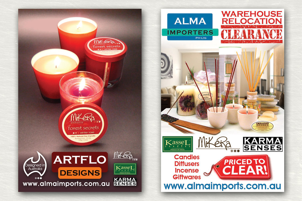 Alma Importers Press Ads