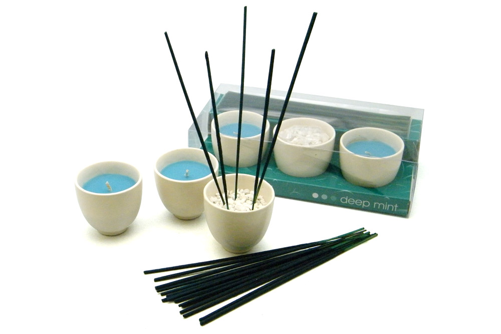 'forest secrets' Incense and Candles Gift Set - Snow Eucalyptus