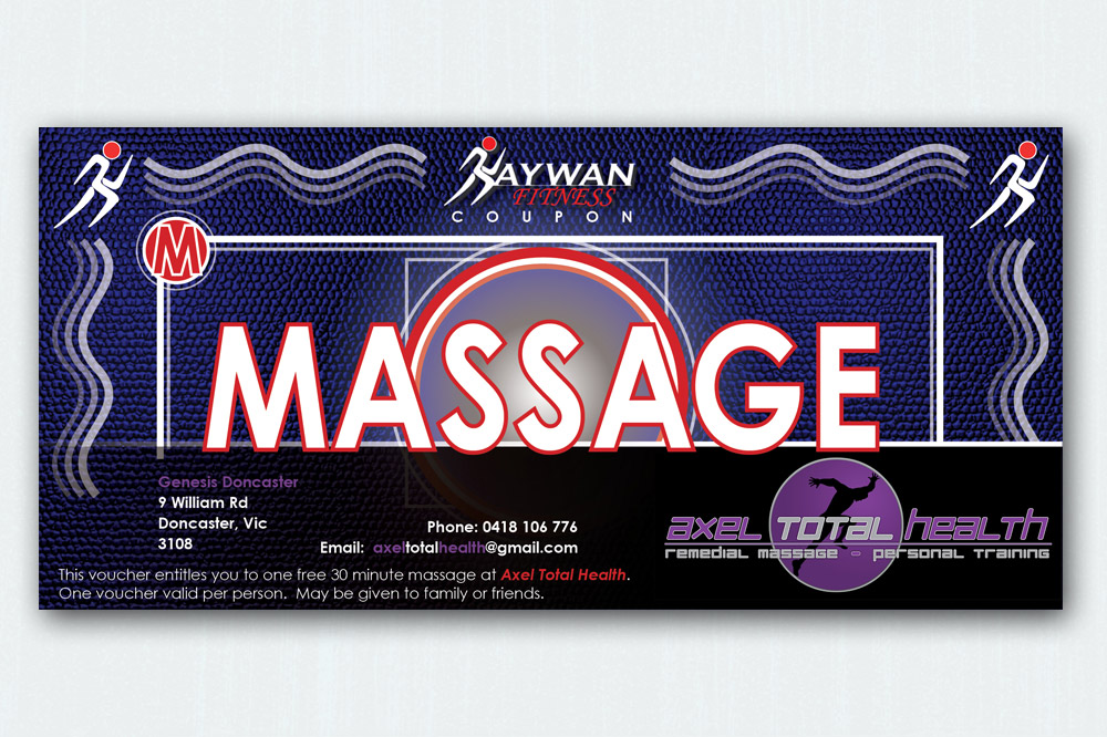 Kaywan Fitness Massage Voucher - 210 x 90mm