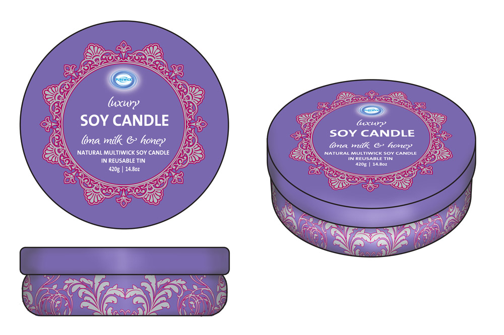 Product Mock-up - Soy Candle Tins 02