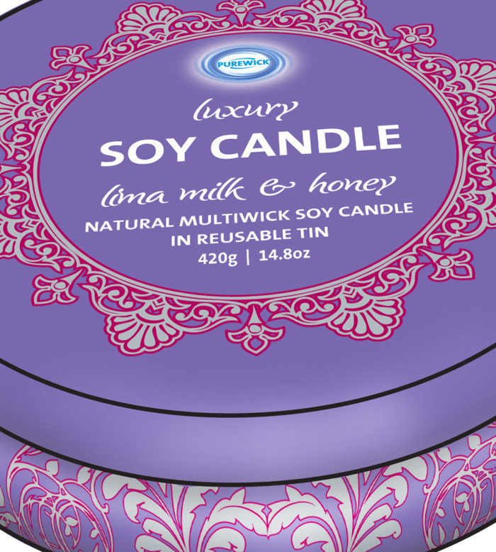 Product Mock-up - Soy Candle Tins Feature